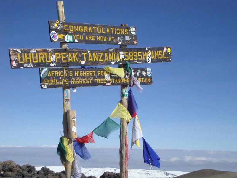 שלט הפסגה של קילימנג'רו טרק