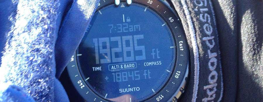 שעון עם נתונים על הטיפוס